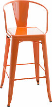Metall Barhocker Vasbro-orange