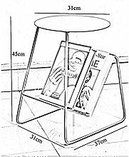 Metall Beistelltisch für Wohnzimmer,Sofe Tisch