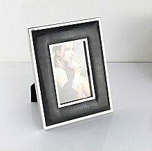 Metall Bilderrahmen - Leder - Glasfront -