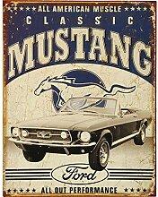 Metall Blech Wandschild 1813 Auto Garage Ford