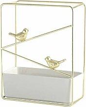 Metall Blumentopf mit Vogel Ornament