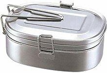 Metall Brotdose, Edelstahl Lunchbox Metall Bento