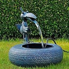 Metall Brunnen mit Pumpe Tischbrunnen Springbrunnen Zimmer Brunnen Gartenbrunnen