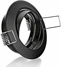 Metall Einbaustrahler schwarz schwenkbar ideal