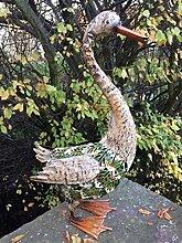 Metall Ente Gartenfigur bunt 50 cm stehend Garten