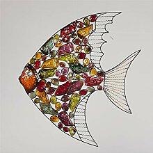 Metall-Fisch-Wand-Kunst, Mehrfarbige Wand