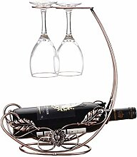 Metall freistehende Tischplatte Becher Weinglas