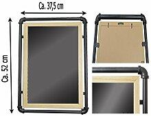 Metall Gals Wandspiegel Deko Gold Weiß Landhaus Landhausstil 52x37,5x2,5 cm Neu