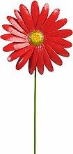 Metall-Gartenstecker Gerbera von Medusa | 48x10x3 cm | wetterfest | Blütenfarbe ro