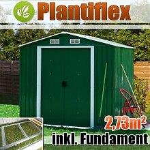 Metall Gerätehaus 210x130 Garten Geräteschuppen Gewächshaus Gartenhaus Schuppen (Grün)