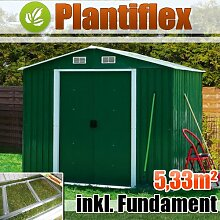 Metall Gerätehaus 260x205 Garten Geräteschuppen Gewächshaus Gartenhaus Schuppen (Grün)