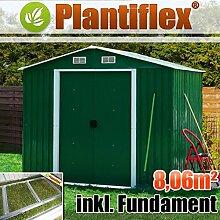 Metall Gerätehaus 260x310 Plantiflex Geräteschuppen Gartenhaus Garten Schuppen (Grün)