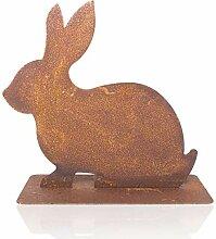 Metall Hase Rosttier Häschen Bunny Ostern