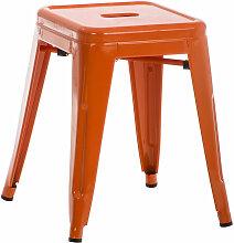 Metall Hocker Armin-orange