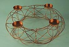 Metall-Kerzenhalter Adventskranz Kupfer oder