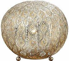 Metall Lampe Ballon orientalisch silber 26cm