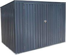 Metall Mülltonnenbox Grau für 3 Mülltonnen 240
