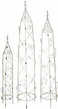 Metall Rankhilfe Obelisk 3 Stück - S, M und L