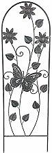 Metall Rankhilfe Schmetterling Blüte