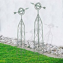 Metall Rankhilfen Windspiel antik grün 2er-Set