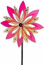 Metall Rosa Blume Wind Spinner