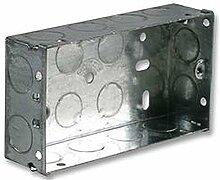 Metall-Rückseite Box 2Gang 35Mm Rückseite Boxen/Befestigung Boxen