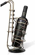Metall Saxophon Weinregal Weinflaschenhalter
