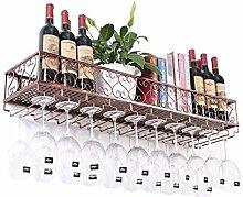 Metall Schwarz Wandbehang montiert Wein Champagner