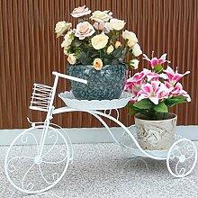 Metall-Trikot-Blumen-Rack Indoor- und Outdoor-Display-Ständer Multi-Layer-Becken Klassische Boutique-Fabrik / Multifunktions-Pflanze Rack (Weiß, Trompete, Tuba) ( größe : Tuba )