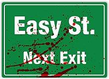 """Metall Wandschild mit Aufschrift """"Easy Street"""