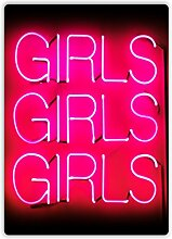 "Metall-Wandschild mit Aufschrift ""Girls Girls"