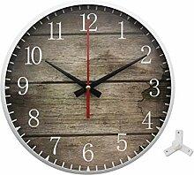 Metall Wanduhr, Geräuscharme Uhr, Silent Wanduhr,