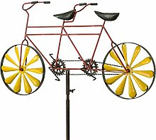 Metall Windrad - Bicycle Tandem - wetterfest, mit
