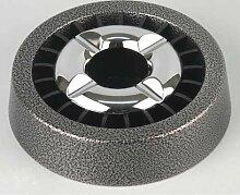 Metallaschenbecher mit Stern-Einsatz -Hammerschlag- + Firelighter