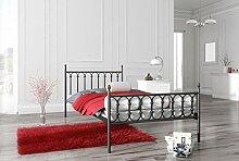 Metallbett Lattenrost Bettgestell Doppelbett Jugendbett Schlafzimmerbett Mod.8 (180 x 200 cm)