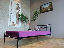 Metallbett Lattenrost Bettgestell Jugendbett Schlafzimmerbett Mod.6J (90 x 200 cm)