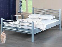 Metallbett Lea 120x200 Weiss