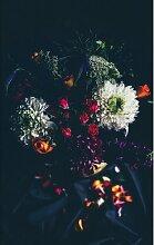 Metallbild Blumenstrauß Ebern Designs