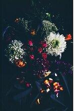 Metallbild Blumenstrauß