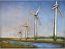 Metallbild Windmühle Ebern Designs