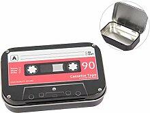 Metalldose | Vorratsdose | Nostalgische Aufbewahrungsdose Vintage | flach 9,5 x 6 cm mit Deckel & stabilen Scharnieren, stilvolles Aufbewahren von Kleinigkeiten von ALSINO Variante wählen:63/2369 Cassette