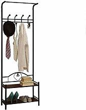 Metalleinlass getrennte Kleiderbügel Garderobe