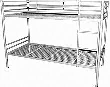 Metalletagenbett mit 2 x Liegefläche 90/200 - Kinder-Hochbett mit 2 x Liegefläche 90x200cm - (3313)