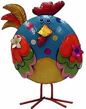 Metallfigur Huhn - bunte Dekofigur / farbenfrohe Dekoration zu Ostern