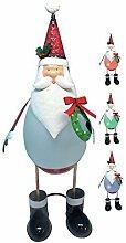 Metallfigur Weihnachtsmann mit LED Beleuchtung, 63