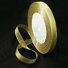 Metallic Gold Organza Hochzeit Party Dekoration,