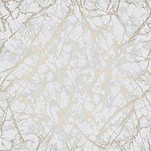 Metallic Marmor weiß und gold Fine Decor Tapete
