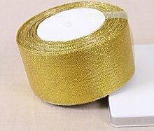 Metallic Organzaband gold/silber viele Größen