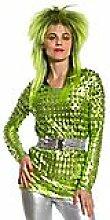 Metallic-Shirt, grün