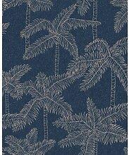 Metallic-Tapete 10 m x 52 cm Eijffinger Farbe: Blau